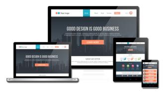 Homepage erstellen responsive Design
